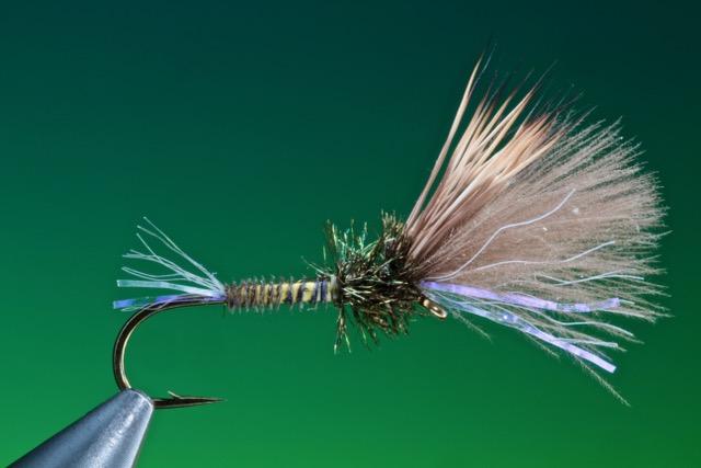 fly tying Mixed wing shuttlecock emerger