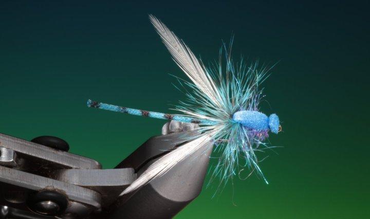 fly tying blue damsel dry fly