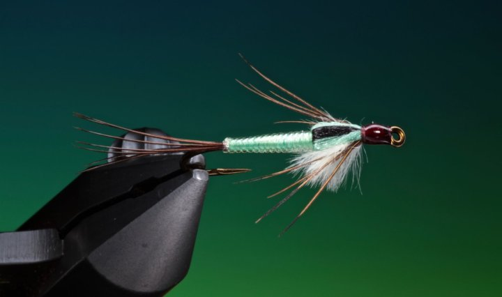 fly tying Ultra Lace Mayfly nymph