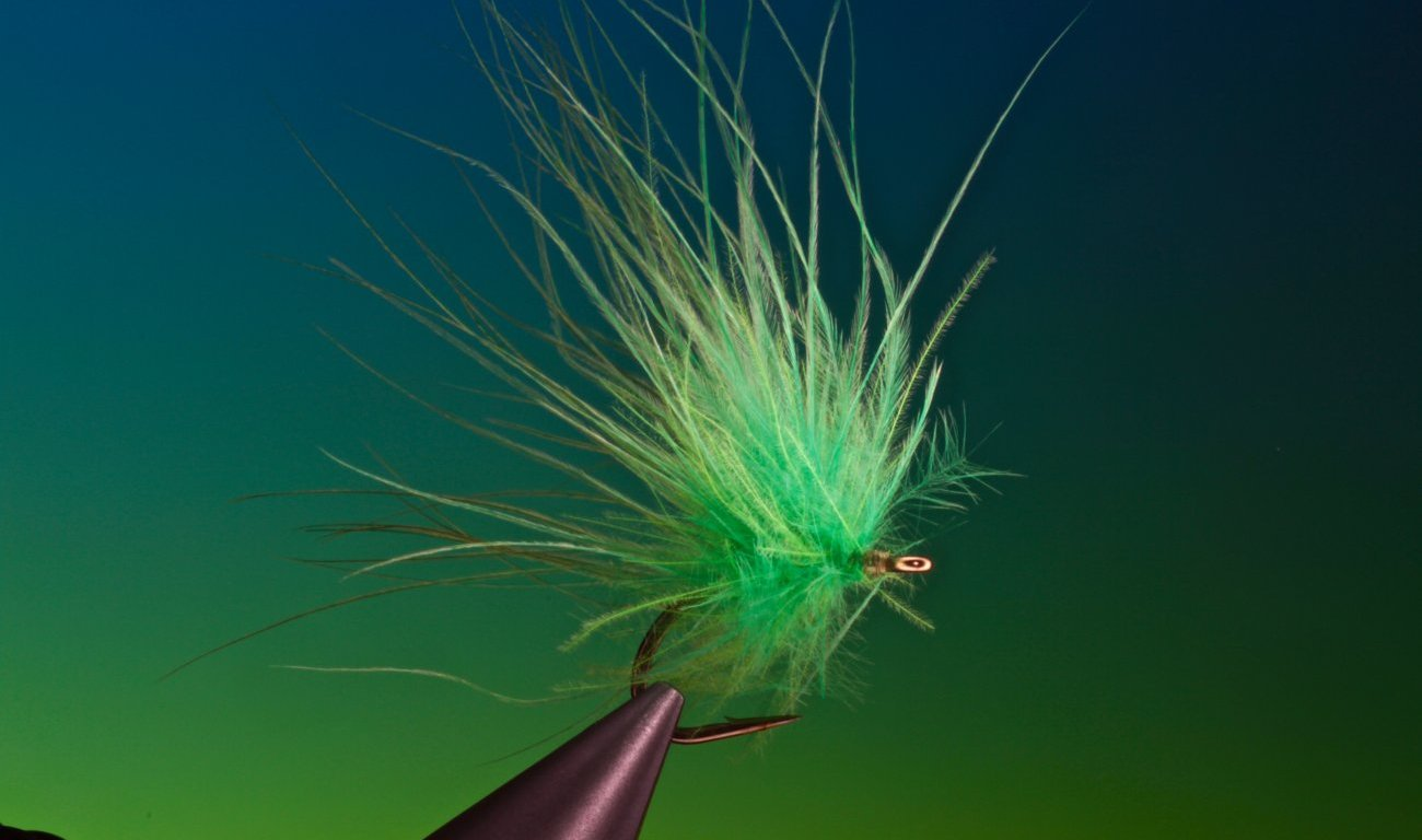 fly tying Grass Carp Salad dry fly