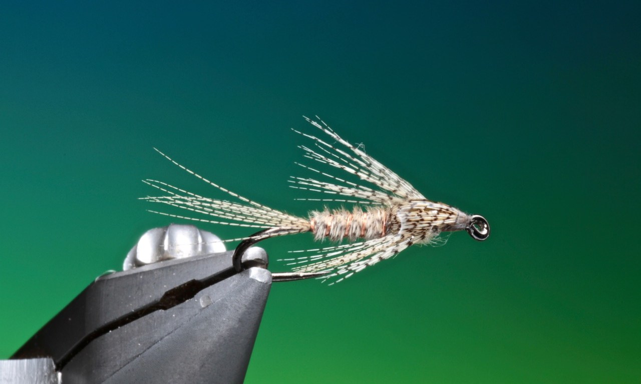 Wood Duck nymph tied by Barry Ord Clarke
