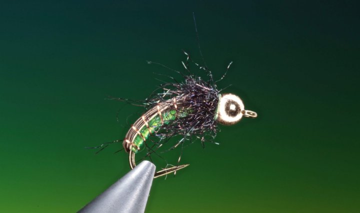 How to tie simple caddis larva. fly tying video