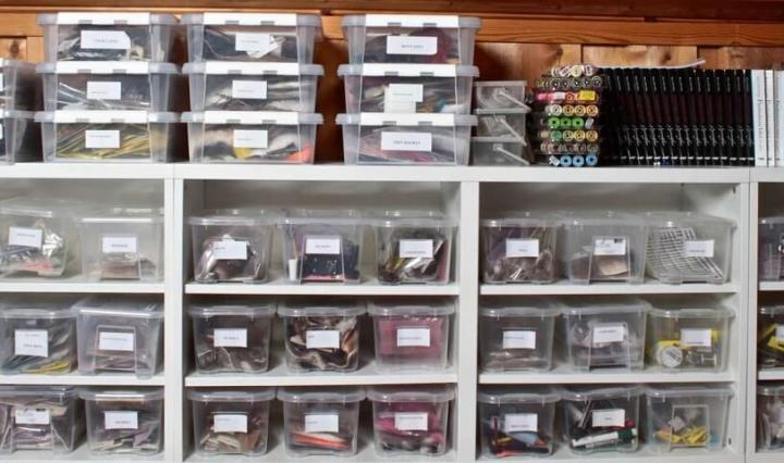 Fly tying materials: Organization and Storage