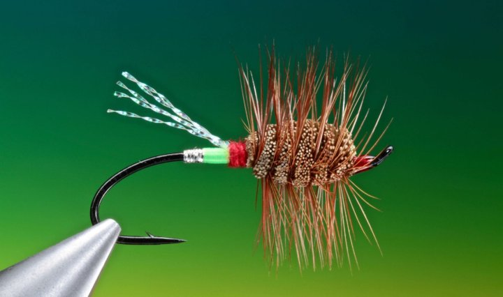 fly tying Green Machine dry fly