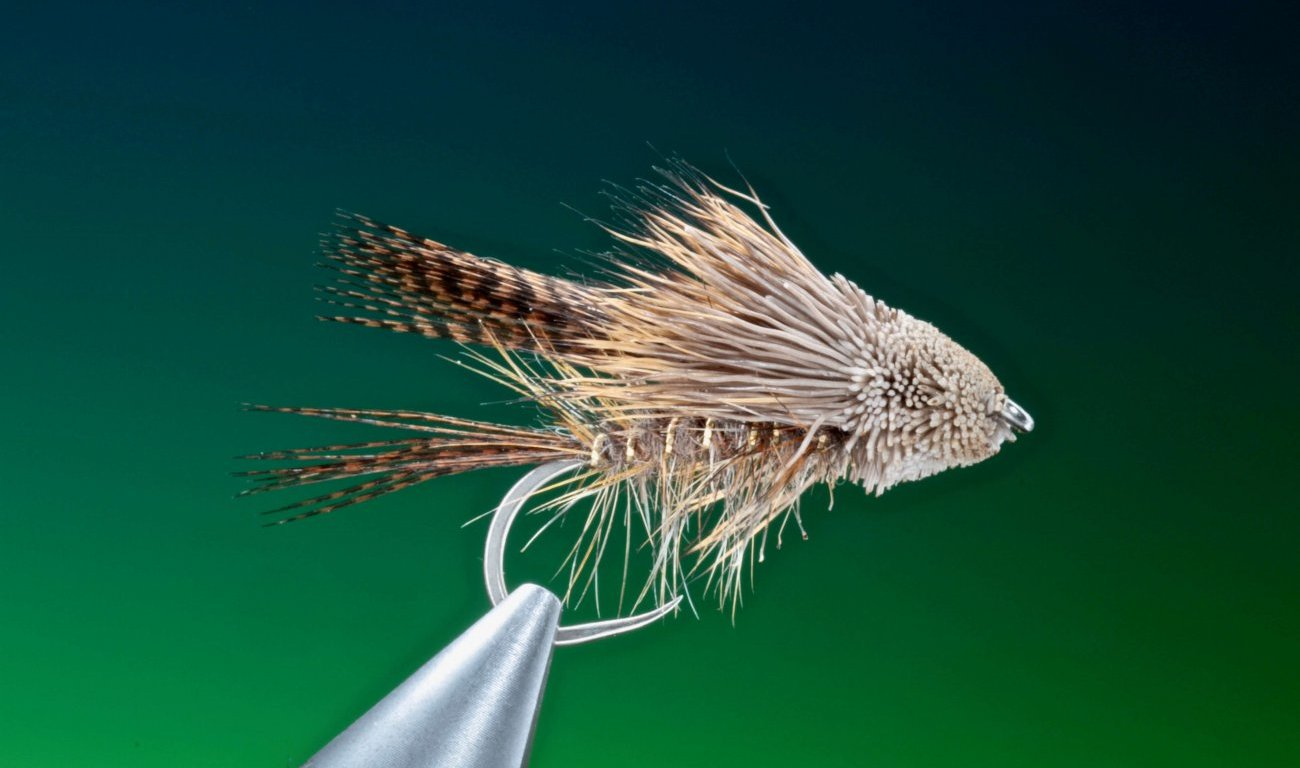 Hares ear muddler streamer tied by Barry Ord Clarke