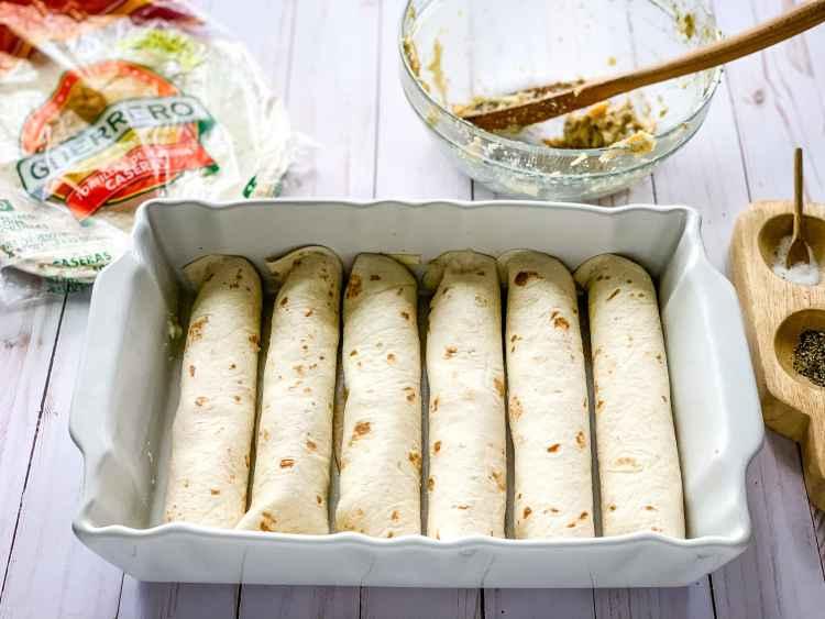 chicken enchiladas prep
