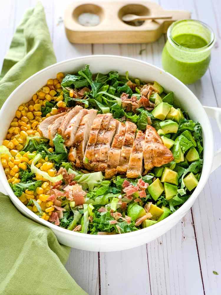 Photo of Chicken Cobb salad and Green Goddess Dressing