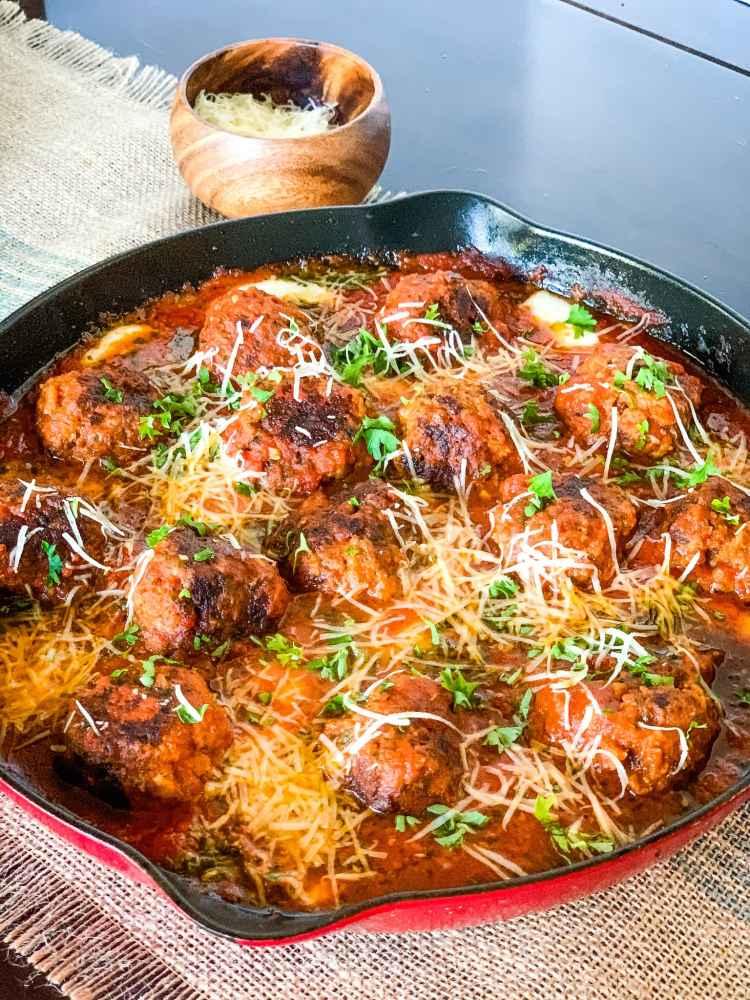One Pot Marinara Meatballs