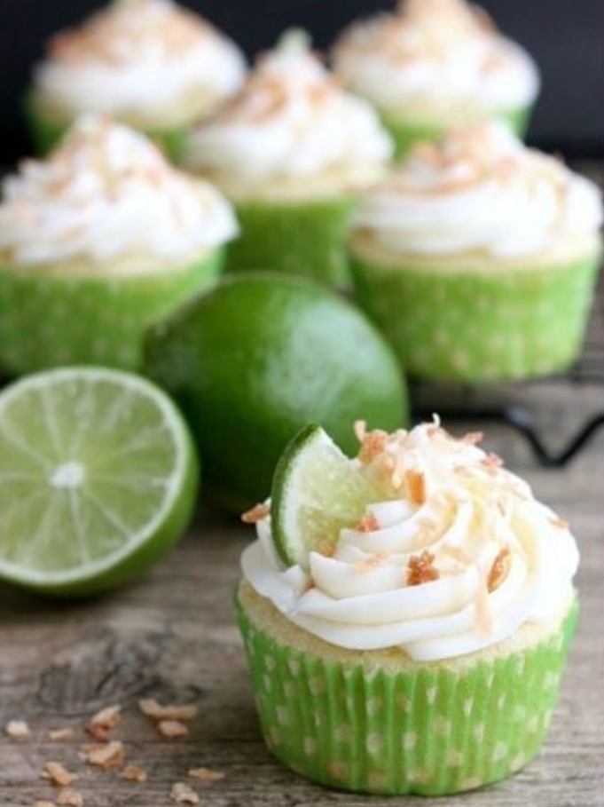 Coconut Lime Cupcakes (via Dessert Now Dinner Later)