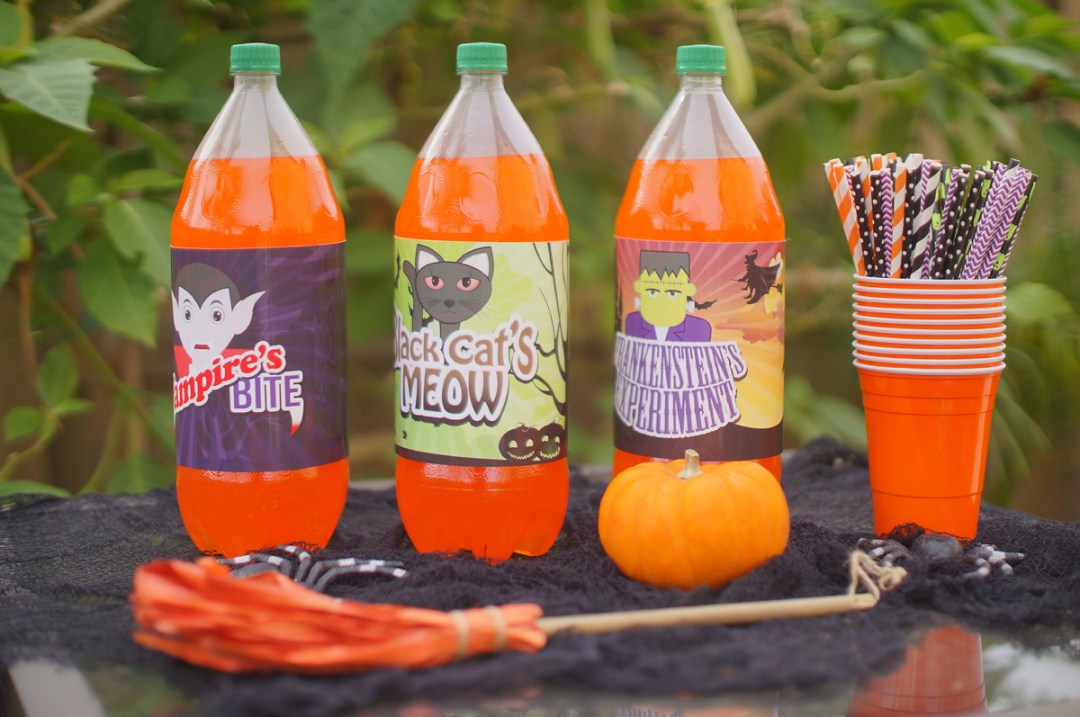 Free Halloween Bottle Printables - TheFebruaryFox.com
