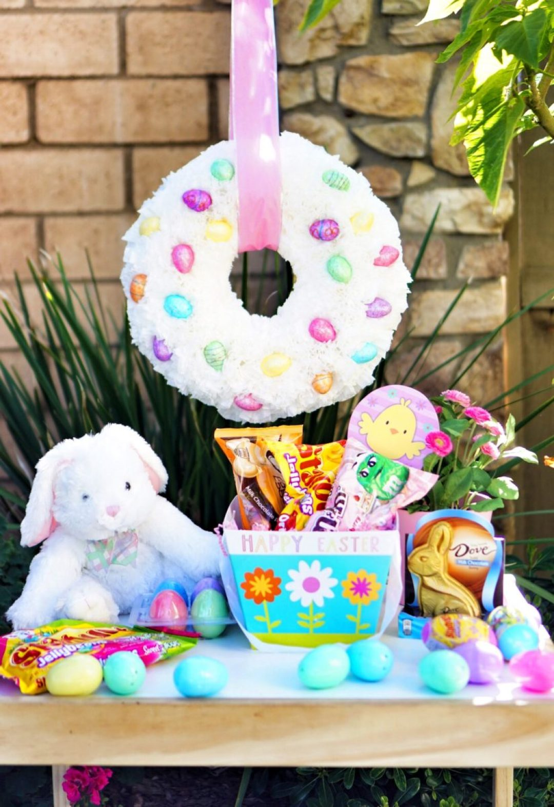 Diy Coffee Filter Easter Wreath The February Fox