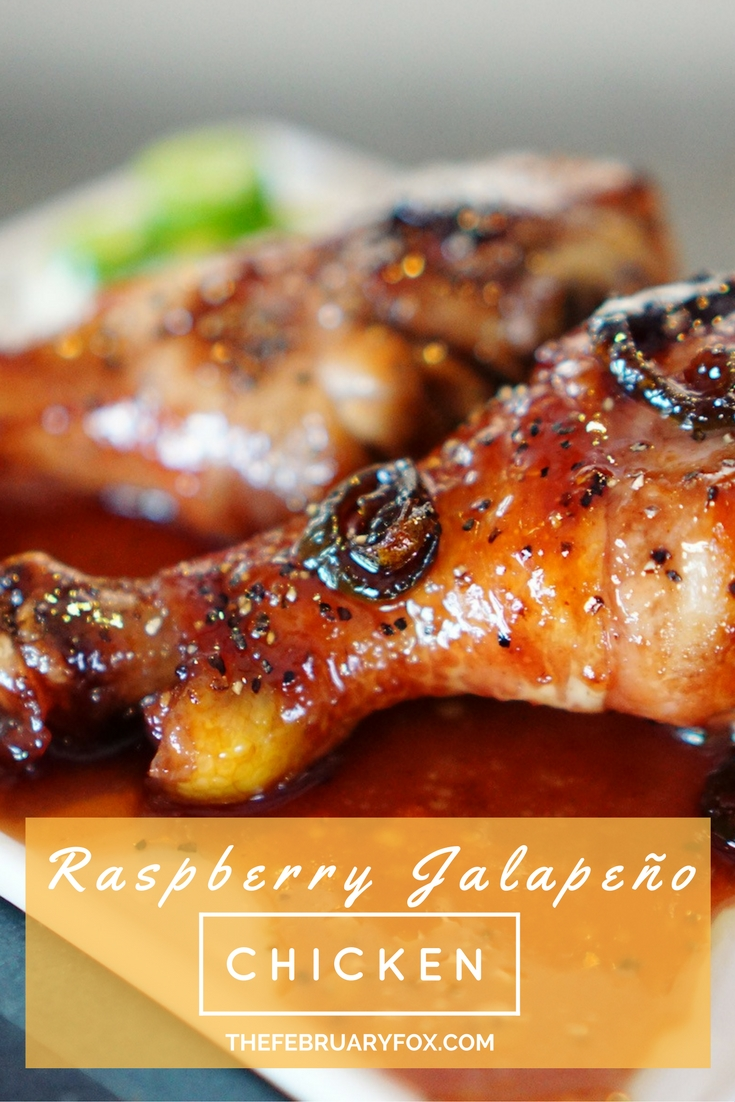 Raspberry Jalapeño Chicken - TheFebruaryFox.com