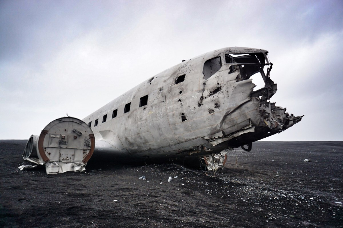 Hiking to Iceland's DC-3 Plane Wreck with Baby