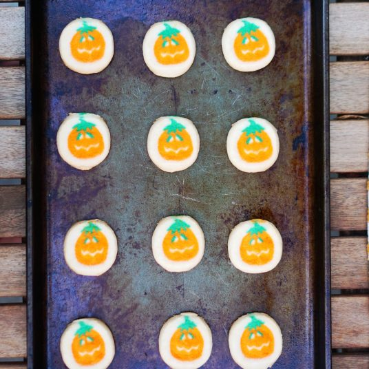 Playful Pumpkin Cookie Sandwiches