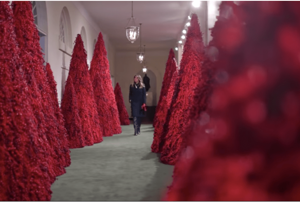 Melanias Red Christmas Trees Are My Favorite Thing This