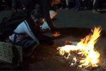 Portland Rioters Burn Bibles Outside Federal Courthouse
