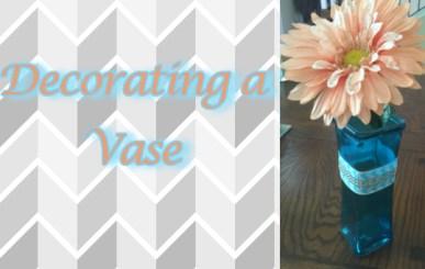 decorating a vase