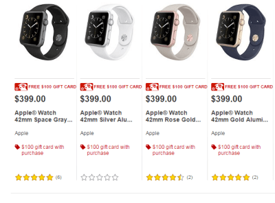 Target Apple Watch 42mm as low as $299 (w/ Target $100 GC)