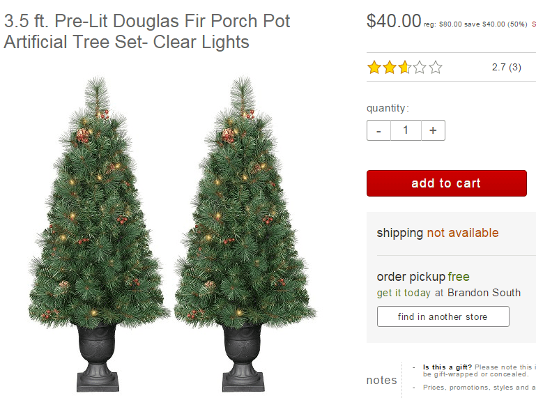 Target Christmas Trees 50% savings up to $267
