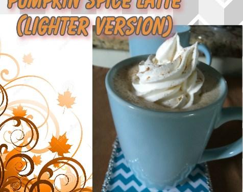 Light Pumpkin Spice Latte