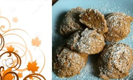 Wheat Pumpkin Cookies & Caramel Frosting