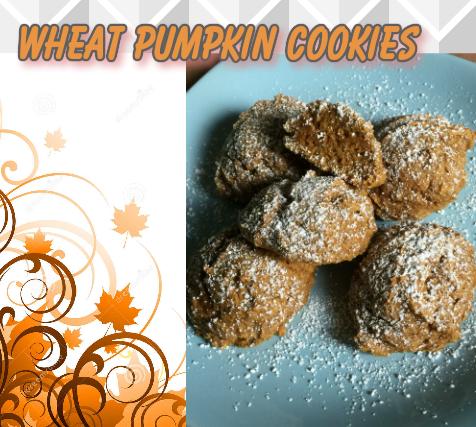 wheat pumpkin cookies