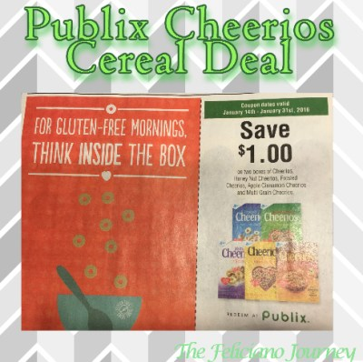 Publix Cheerios Cereal Deal as low as $0.62 each (ends today)