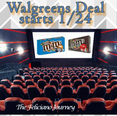 Walgreens M&Ms theater pack as low as $0.30 (starting 1/24)
