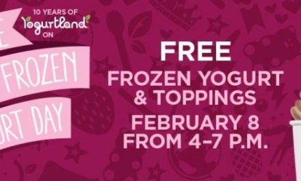 Yogurtland Free Frozen yogurt on 2/8