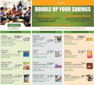 Publix Snack Share Save Trip Scenario 1 (pay as low as $0.25)