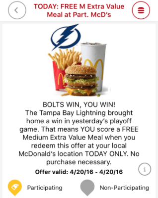 Mcdonalds App – Free Value Meal (2 days this week)