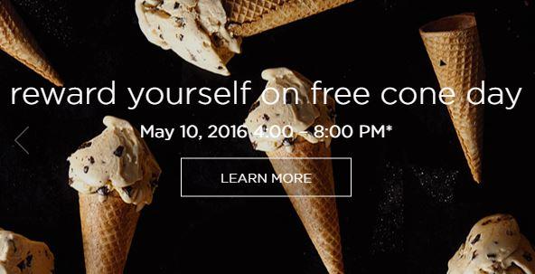 FREE Cone Day @ Haagen-Dazs on 5/10