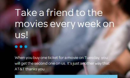 AT&T Ticket Twosday (BOGO movie tickets for At&t customers)
