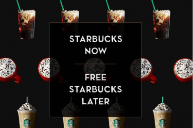 Starbucks Order today and Get a Free Starbucks drink for later