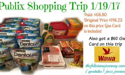 Publix Trip 1/19/17 – $68.80 from $148.23 (w/ $50 Gas card incl)