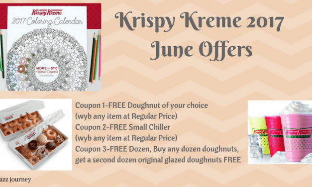 Krispy Kreme 2017 Calendar – June Coupons (ends today)