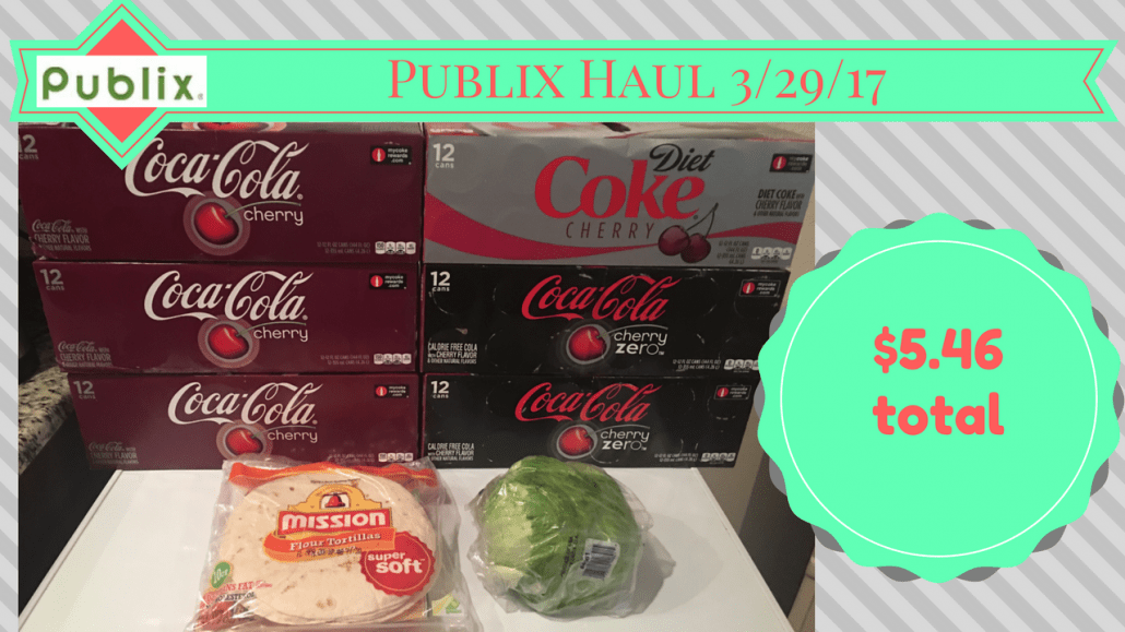 Publix Haul 3/29/17 – $5.46 from $41.43