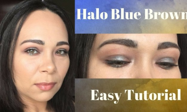 Easy halo mini tutorial blue and brown