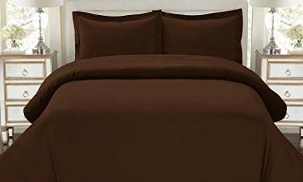 Hotel Luxury 3pc Duvet Cover Set-ON SALE TODAY-1500 Thread Count Egyptian Quality Ultra Silky Soft Top Quality Premium Bedding Collection, 100% -King Size Brown