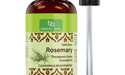Beauty Aura 100% Pure Rosemary Essential Oil * 4 Fl. Oz. * Therapeutic Grade Oil * Ideal for Aromatherapy
