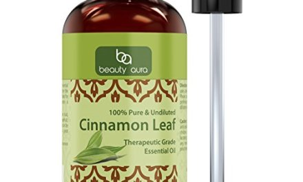 Beauty Aura Cinnamon Leaf Essential Oil – 4 Oz. Bottle – Pure Therapeutic Grade Oil – Ideal for Aromatherapy