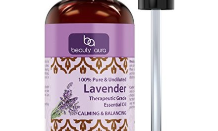 Beauty Aura 100% Pure Lavender Essential Oil – 4 oz Bottle – Finest Quality Therapeutic Grade Essential Oils – Ideal For Aromatherapy