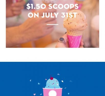 Baskin-Robbins $1.50 a scoop & how to get a FREE treat too (only today)