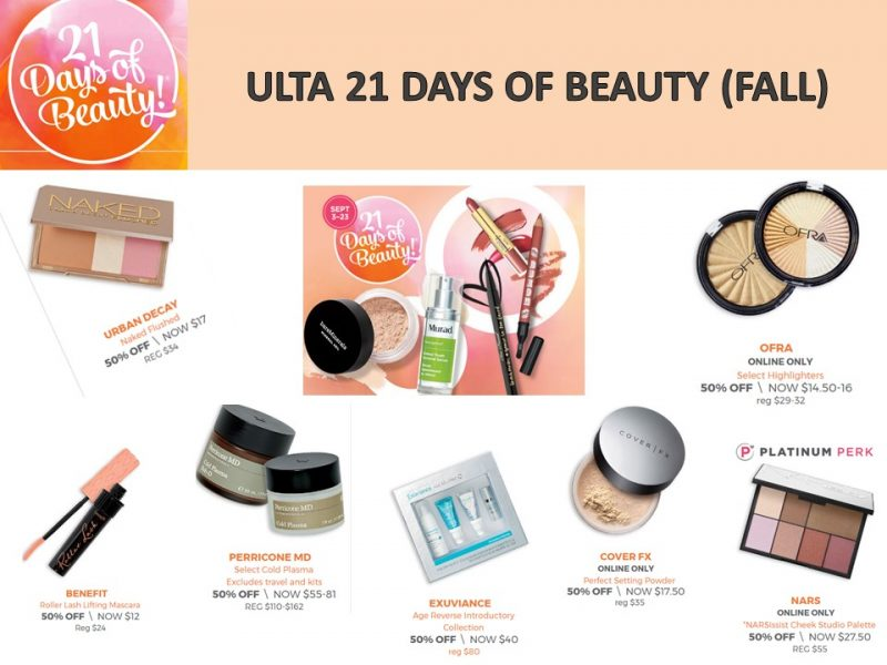 Ulta: 21 Days of Beauty -What's on special today? 9/17/17