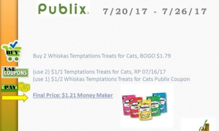 Publix Upcoming Ad 7/20 – Whiskas Temptations Treats (Money Maker)