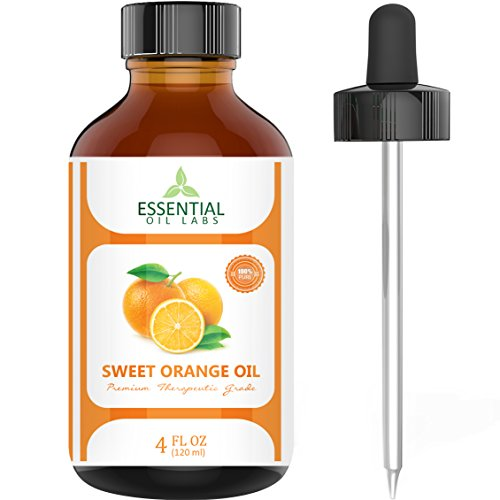 Sweet Orange Essential Oil – 100% Pure and Natural 4 Oz. with Glass Dr…