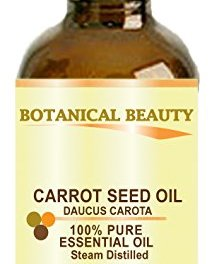 """CARROT SEED Essential Oil 100% Pure/ Undiluted/ Steam Distilled. 0.17 Fl.oz.- 5 ml. """"One of the best skin revitalizing essential oils"""" by Botanical Beauty."""