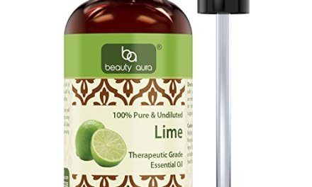 Beauty Aura 100% Pure Lime Oil 4 Fl oz – 100% pure and undiluted – The…
