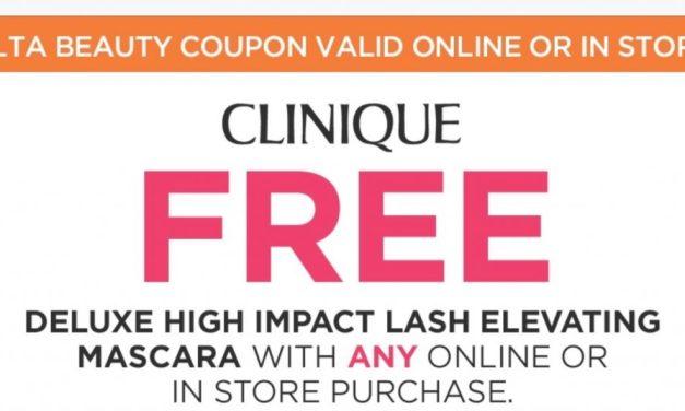 Ulta: FREE Clinique Mascara (check your email)