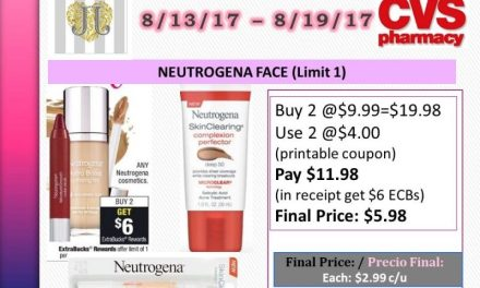 CVS: Neutrogena Face (upcoming ad 8/13) as low as $2.99 each